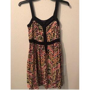 Material Girl Tribal Print Cutout dress w/Pockets